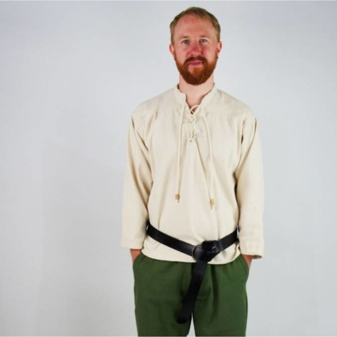 Leonardo Carbone Handgeweven hemd, groen