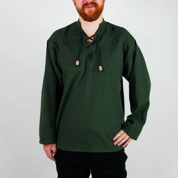 Handgeweven hemd, groen