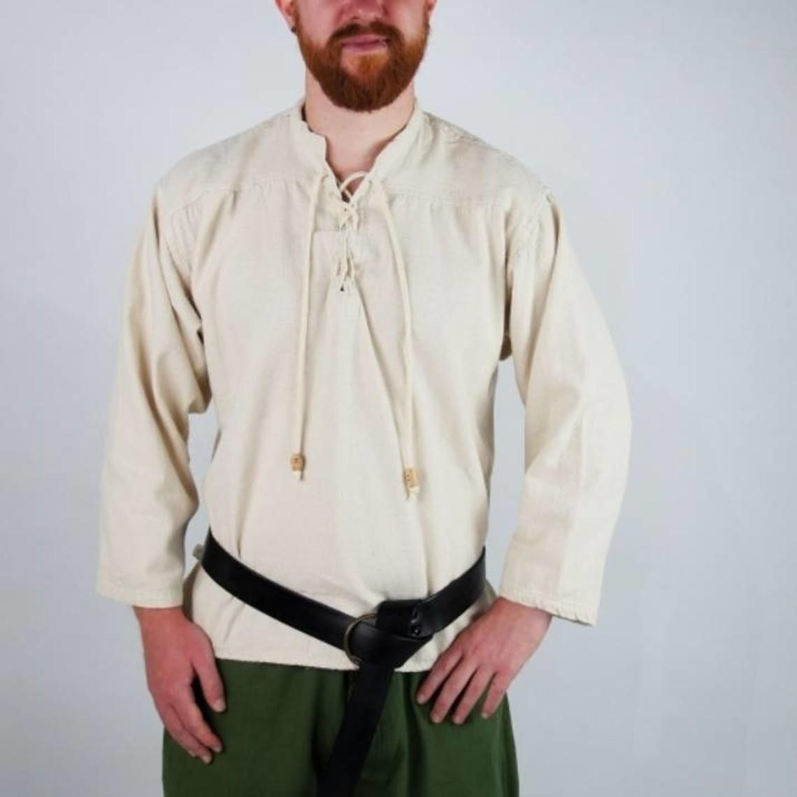 Leonardo Carbone Handgeweven hemd, honingbruin