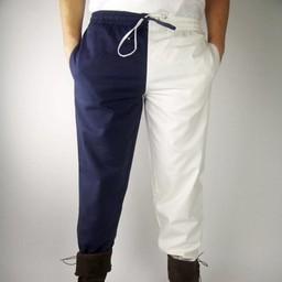 Late 14th century trousers Mi parti, black/red