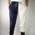 Leonardo Carbone Pantalones Mi parti, rojo / blanco