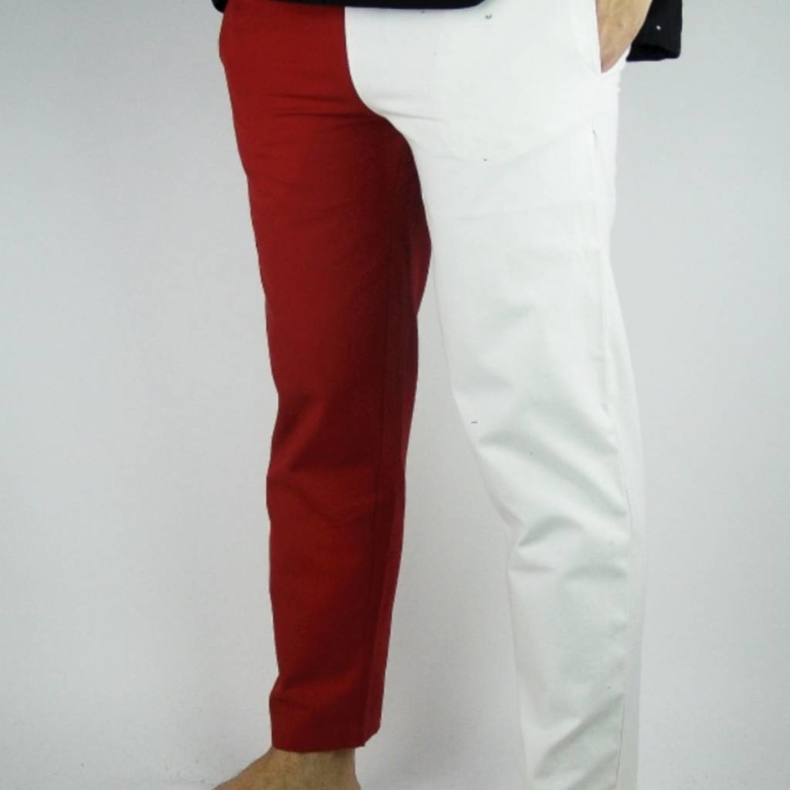 Leonardo Carbone Pantalones Mi parti, azul / blanco