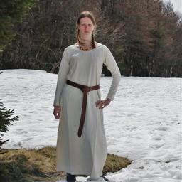 Middeleeuwse  jurk Emma, crème