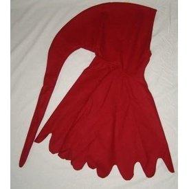 Wełniana chaperon, czerwony