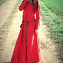 Viking klänning Lina, röd