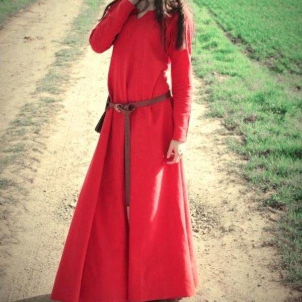 Viking dress Lina, red