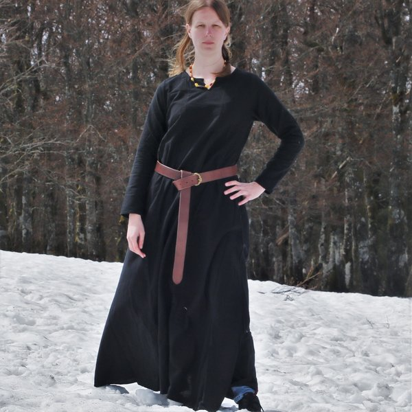 Vestito vichinga Lina, nero