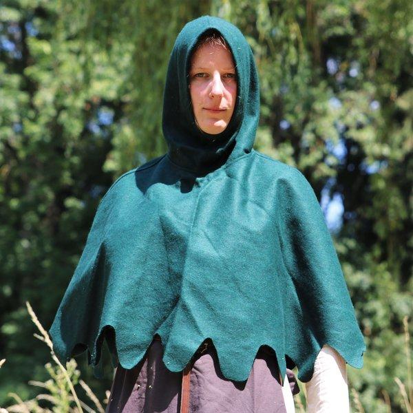 Cappuccio de lana, verde