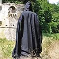 Leonardo Carbone Baumwolle Mantel, schwarz