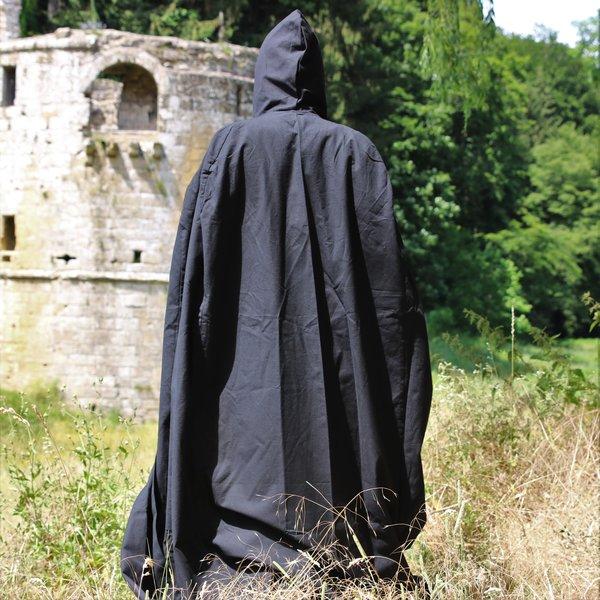 Katoenen mantel zwart