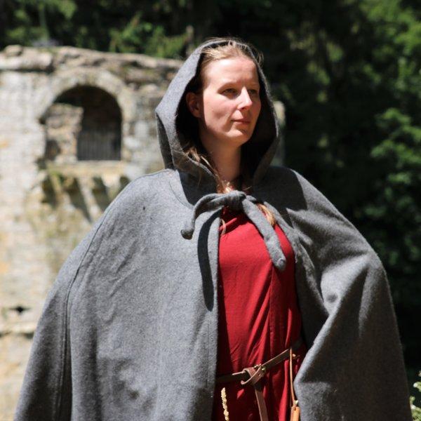 Leonardo Carbone Medieval kappe med hætte, grå