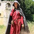 Leonardo Carbone Middeleeuwse mantel met kap, grijs