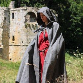 Leonardo Carbone Medieval cloak with hood, grey