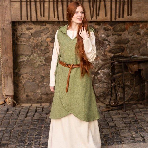 Burgschneider Wrap klänning Runa, linden grön XXL-XXXL