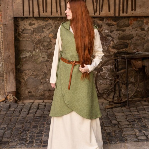 Burgschneider Wrap kjole Runa, linden grøn XXL-XXXL