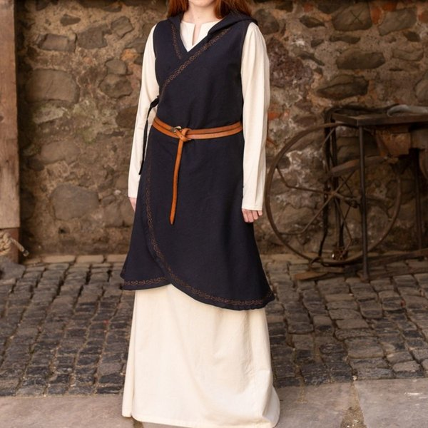 Burgschneider Wrap kjole Dala, sort XXL-XXXL