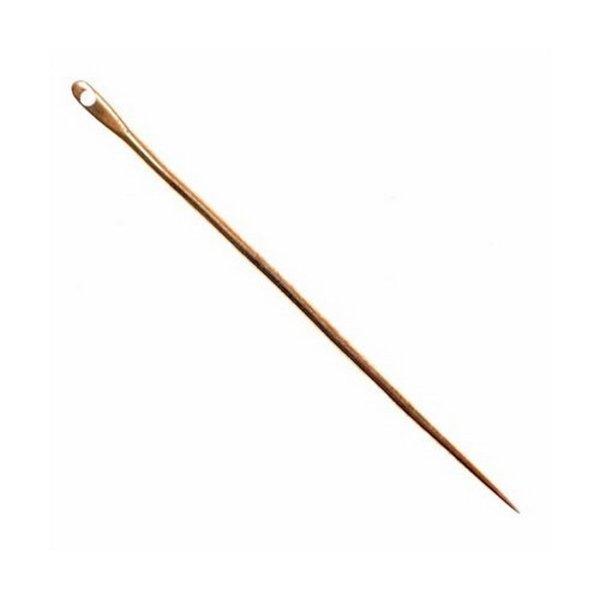 Brass needle 6 cm, price per piece