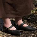 Epic Armoury Zapatos de mujer medievales Astrid, negro.