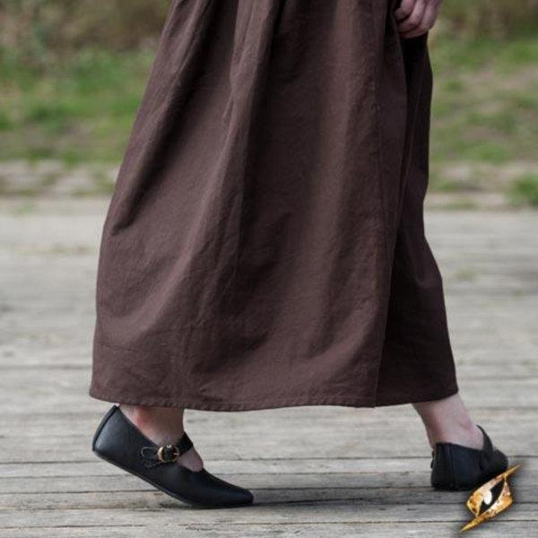 Epic Armoury Mittelalterliche Damenschuhe Astrid, schwarz