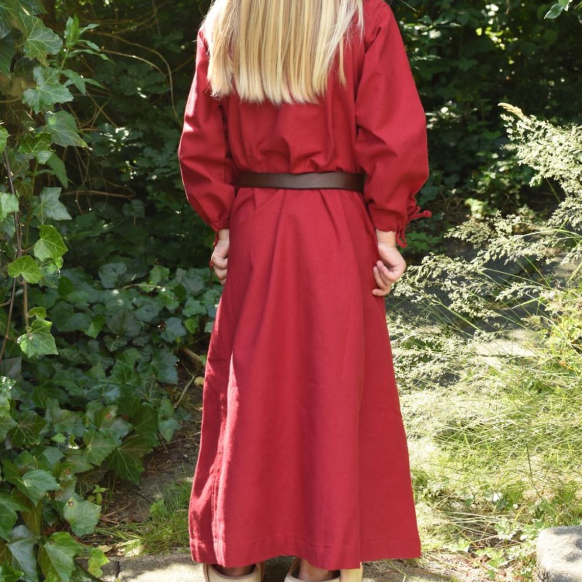 robe enfants Mathilde, rouge