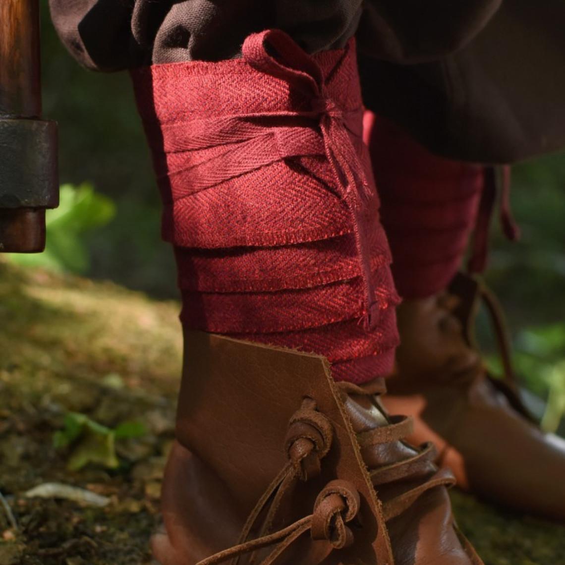 enveloppements de jambe pour les enfants, rouge