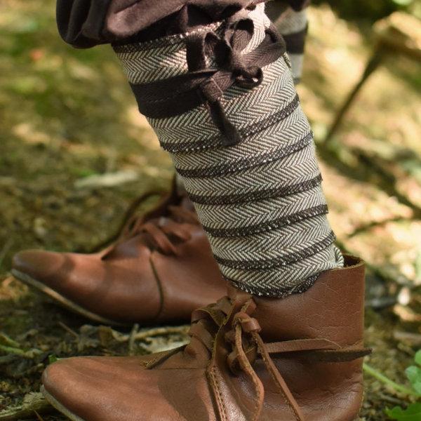 Confezioni di gambe per bambini, marrone