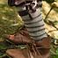 Envolturas de pierna para niños, marrón