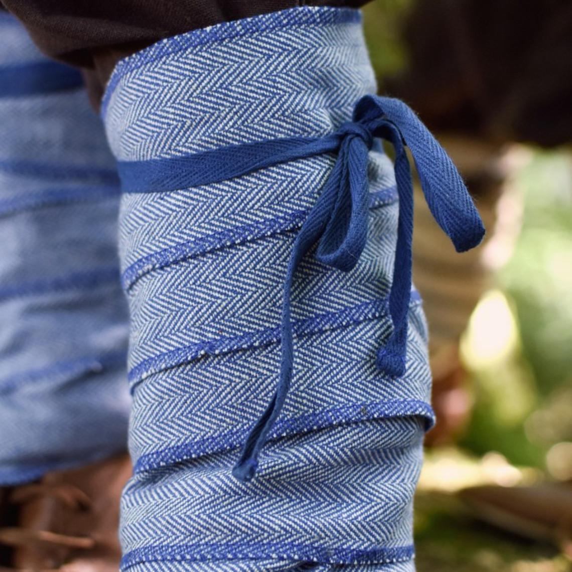 enveloppements de jambe pour les enfants, bleu