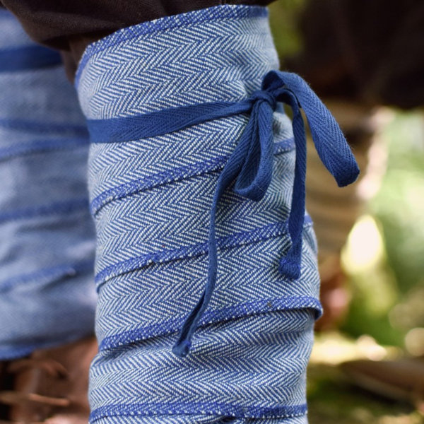 Leg wrappings for kids, blue