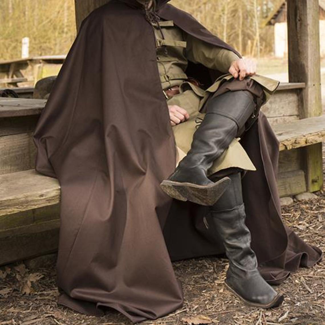 Epic Armoury Middelalderlig kappe Terrowin, brun