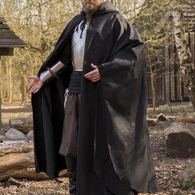 Epic Armoury Middeleeuwse mantel Terrowin, zwart