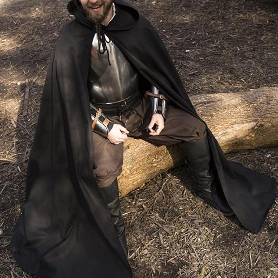 Epic Armoury Mantello medievale Terrowin, nero