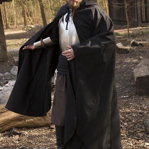 Epic Armoury Middelalderlig kappe Terrowin, sort