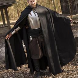 Middeleeuwse mantel Terrowin, zwart