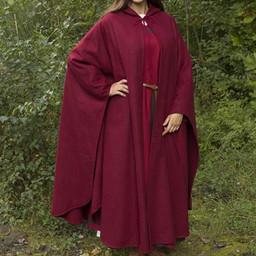 Mantello da viaggio in lana rosso