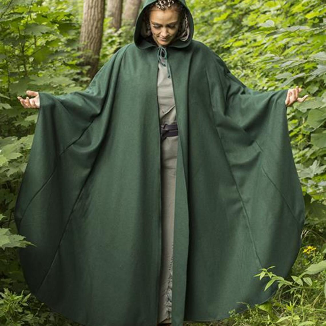 Epic Armoury Viajeros de lana capa verde