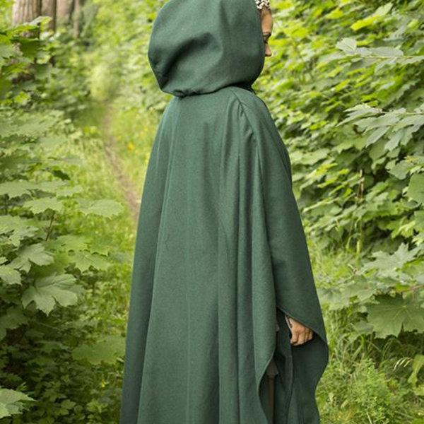 Epic Armoury Wool travelers cloak green