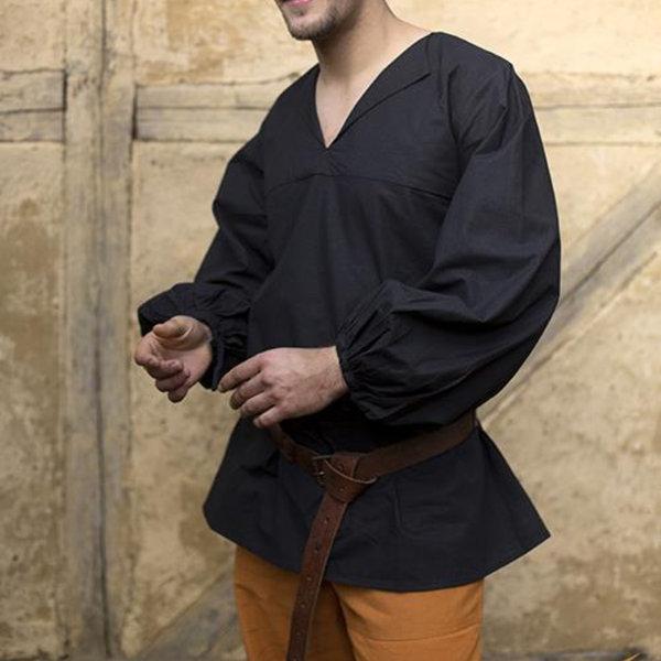 Epic Armoury Renæssance-skjorte Luca, sort