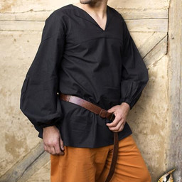 Renesansowa koszula Luca, czarna