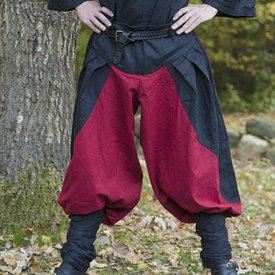 Epic Armoury Renesansowe spodnie Raphael, czerwono-czarne