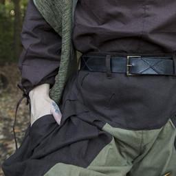 Renesansowe spodnie Raphael, brązowo-zielone