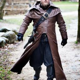 Abrigo de cuero Hellsing, marrón