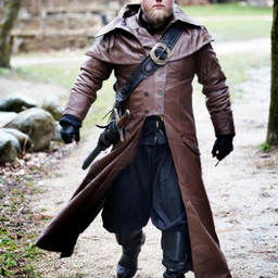 Płaszcz skórzany Hellsing, brązowy