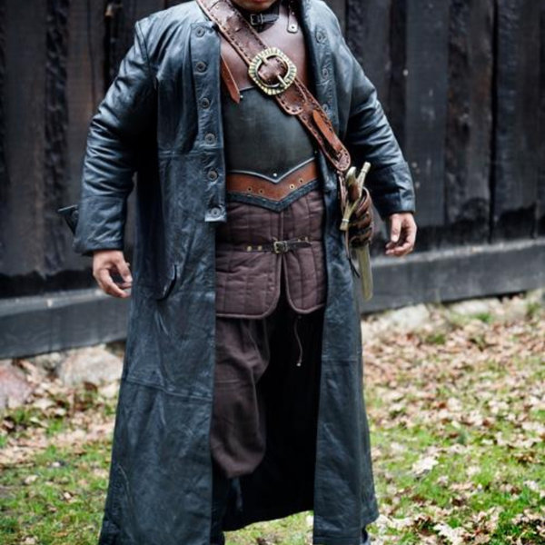 Epic Armoury Læderfrakke Hellsing, sort