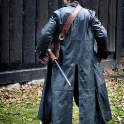 Cappotto di pelle Hellsing, nero