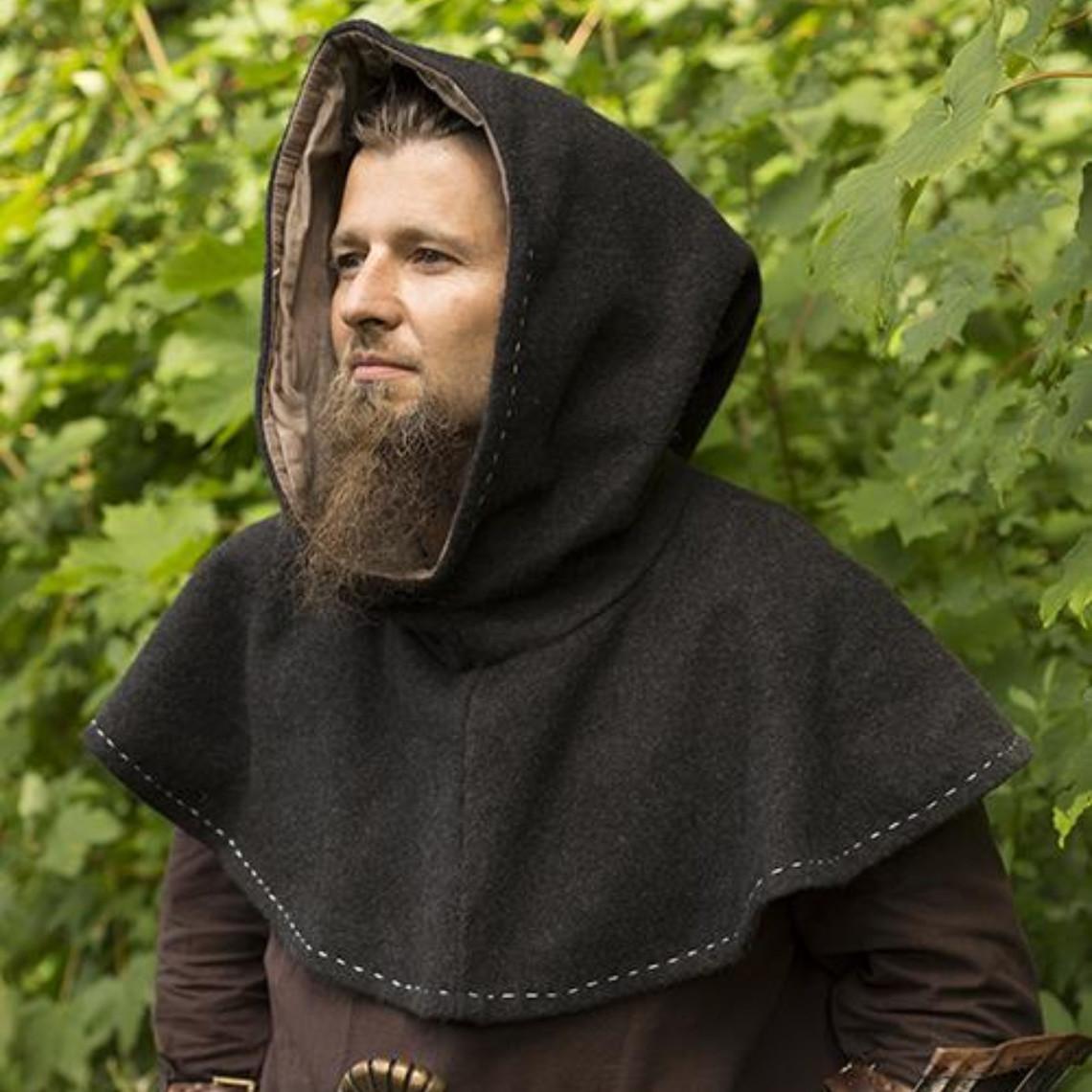 Epic Armoury Middeleeuwse kaproen Erhard, donkergrijs