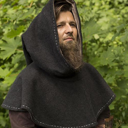 Medieval chaperon Erhard, dark grey