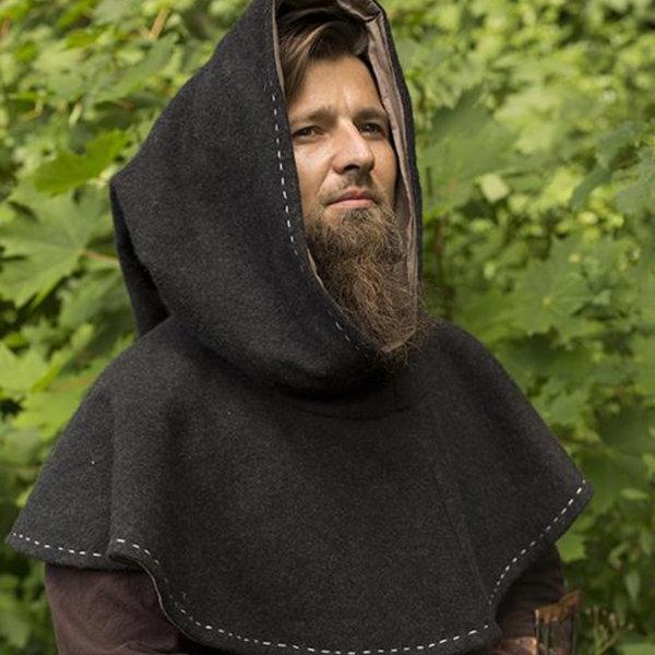 Epic Armoury Medieval chaperon Erhard, mørkegrå