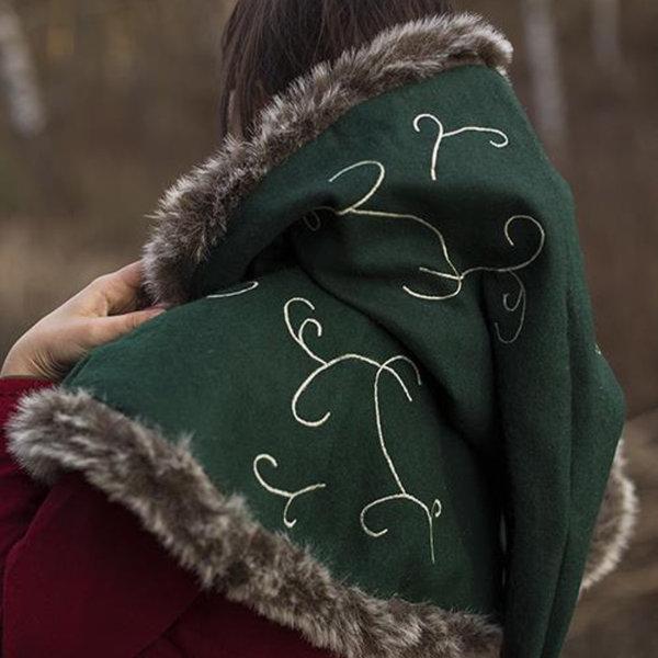 Epic Armoury Fur hood Gisla, grøn