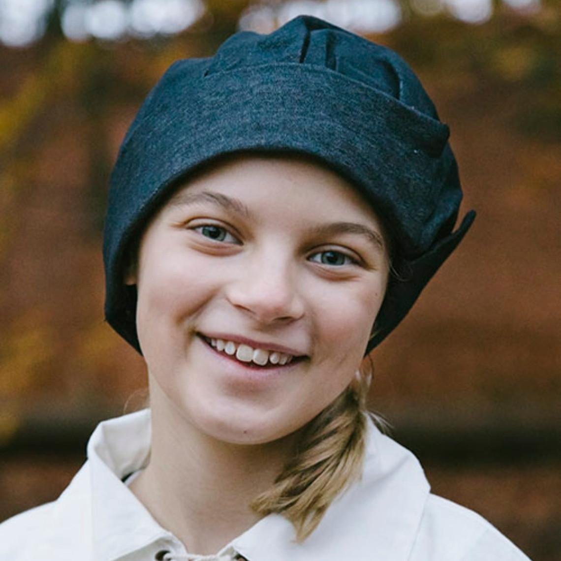 Epic Armoury Bonnet vénitien pour enfant, noir